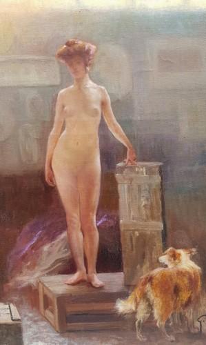 Paintings & Drawings  - The workshop - Gaston HOFFMANN (1833-1977)