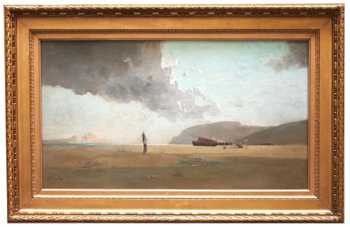 Seaside, Italian or Oriental, - Jean d'ALHEIM (1840-1894)
