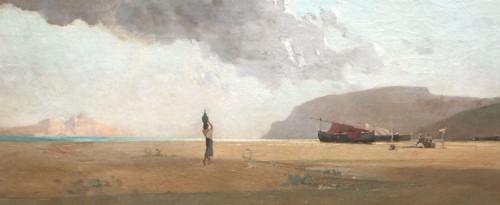 Seaside, Italian or Oriental, - Jean d'ALHEIM (1840-1894) - Paintings & Drawings Style