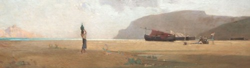 Paintings & Drawings  - Seaside, Italian or Oriental, - Jean d'ALHEIM (1840-1894)