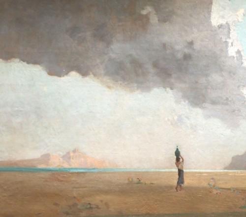 Seaside, Italian or Oriental, - Jean d'ALHEIM (1840-1894) -