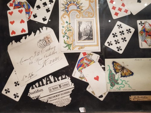 Paintings & Drawings  -  trompe l'oeil with cards dated 1902 - C SUTTERLIND