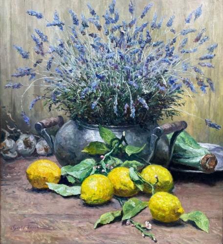 Lavender and cirtons - OswaldPOREAU(1877-1955)
