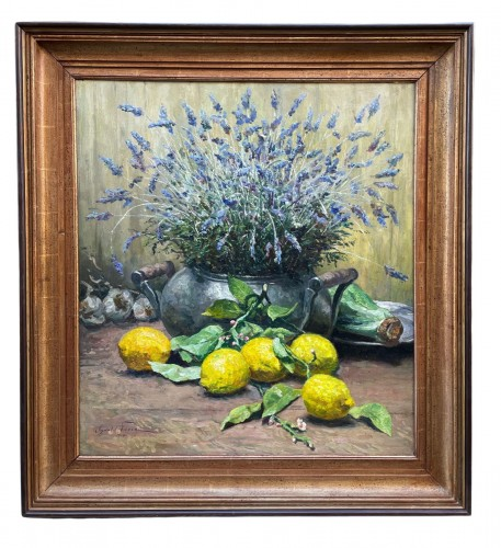 Lavender and cirtons - OswaldPOREAU(1877-1955) - Paintings & Drawings Style