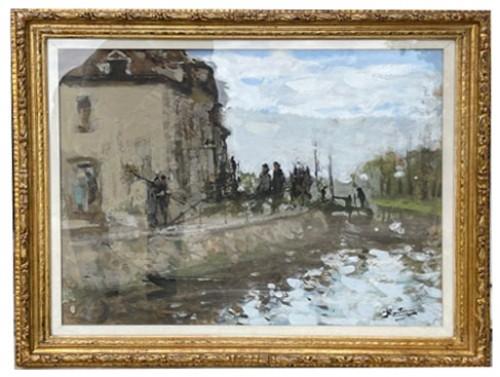 Animated lock - Pierre Eugène MONTEZIN (1864-1946) - Paintings & Drawings Style