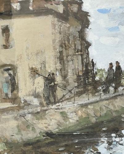 20th century - Animated lock - Pierre Eugène MONTEZIN (1864-1946)