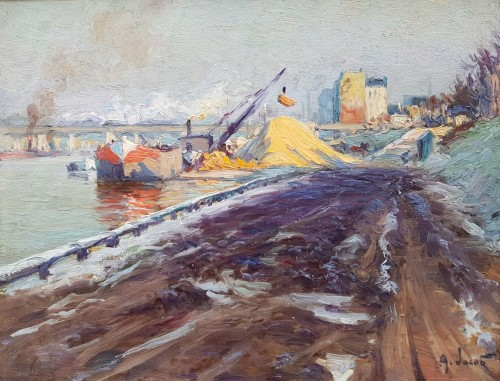 Barge on the Seine - Alexandre JACOB (1876-1972)