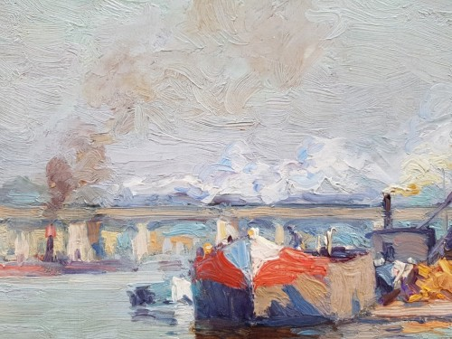 Barge on the Seine - Alexandre JACOB (1876-1972) -