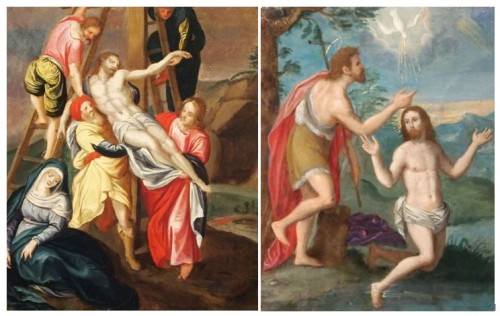 The Baptism and the Descent from the Cross of Christ