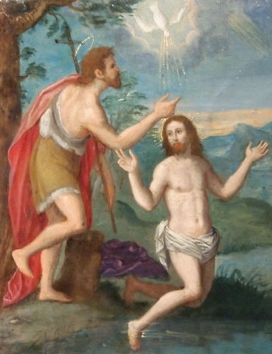Religious Antiques  - The Baptism and the Descent from the Cross of Christ