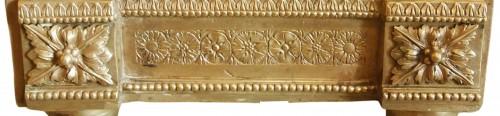Pair of andirons in bronze , Louis XVI period -