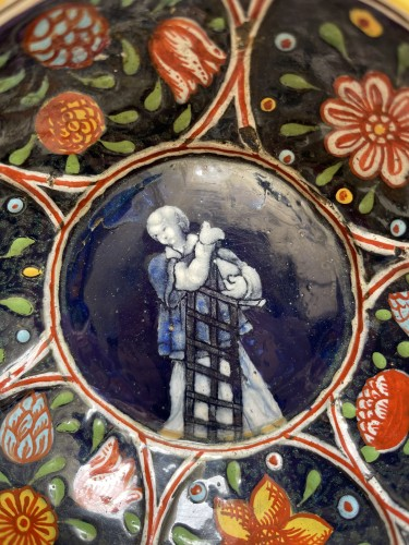 Religious Antiques  - Dish, Saint Laurent, attributed to Jacques de LAUDIN II, late 17th century