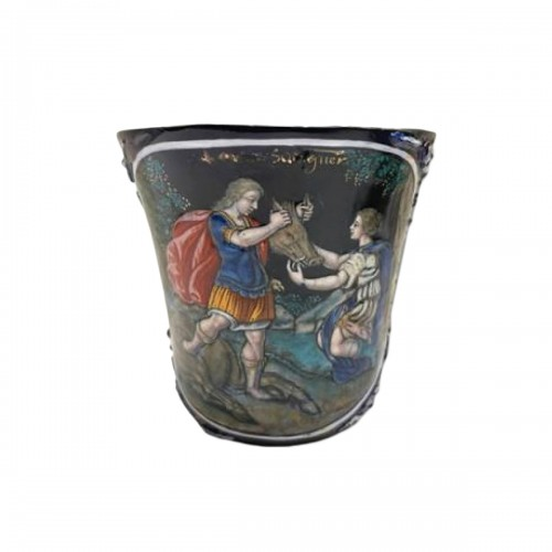 A late 17th century Limoges enamel Timbale
