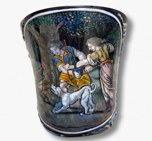 Decorative Objects  - A late 17th century Limoges enamel Timbale