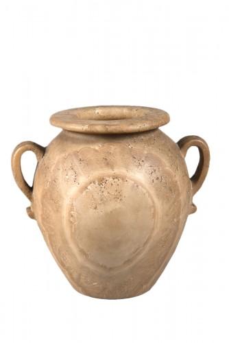 A large globular vase