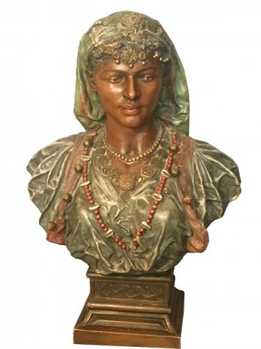 Bust of an oriental woman - Joseph Le Guluche  (1849 -1915)