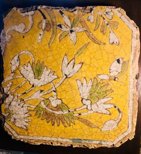 Lotus flower tile - Porcelain & Faience Style
