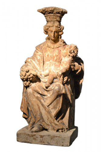 virgin and child, flanders XVIIth century