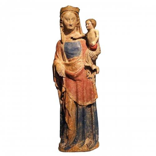 14th century Virgin and child