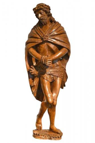 Ecce homo in box wood XVIIth century