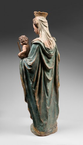 Virgin with Child in terracotta 17th century - Sculpture Style