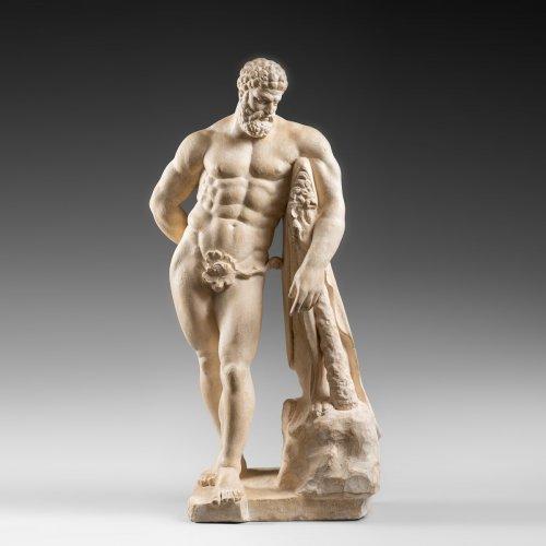 l'Hercule Farnese in limestone xviii century