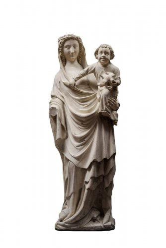 Sculpture  - Virgin and Child, Seine-et-Marne (Former Champagne), Mid 14th