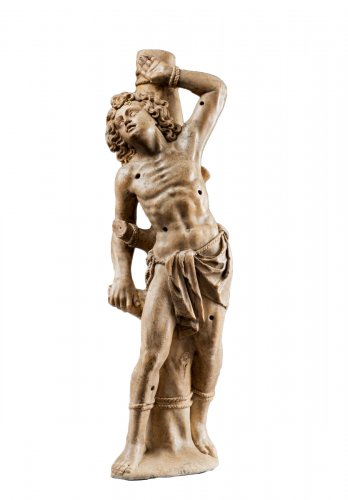 Saint Sebastian in alabaster - Attributed to Jorg ZURN