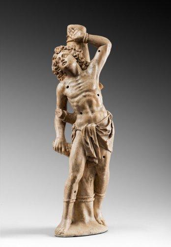 Saint Sebastian in alabaster - Attributed to Jorg ZURN - Sculpture Style