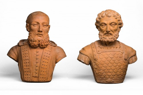 Pair of Terracotta busts, France 17th century
