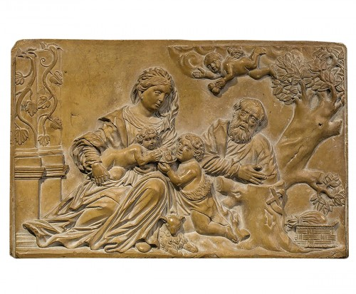 Holy Family in Stone of Solnhofen, Germany 17th century