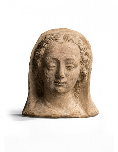 Head of a woman, terracotta of the workshops of Le Mans early 17th century