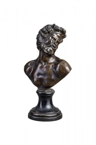 Renaissance bronze ,a Bust of Satyr