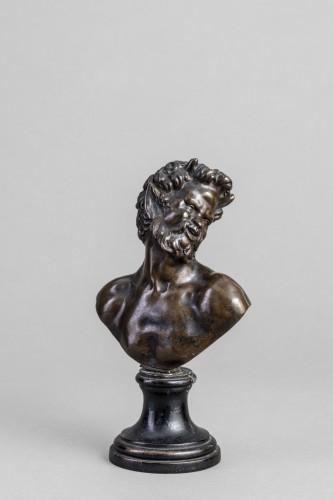 Renaissance bronze ,a Bust of Satyr  - Sculpture Style Renaissance