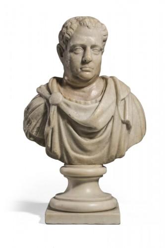 Marble Bust  Vitellius Imperator XVIIe