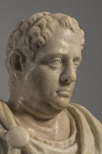 Marble Bust  Vitellius Imperator XVIIe - Sculpture Style Louis XIV