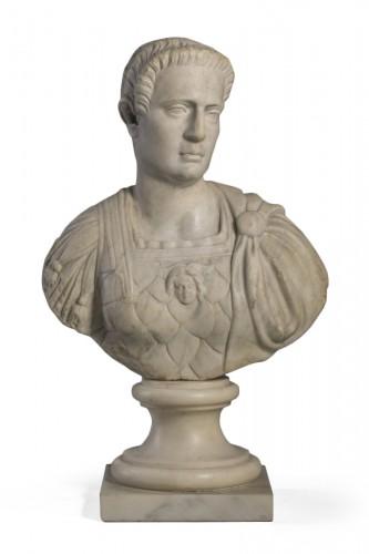 Marble Bust  Auguste Imperator XVII century