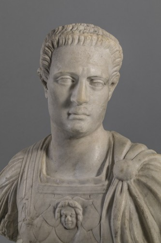 Marble Bust  Auguste Imperator XVII century - Sculpture Style Louis XIV