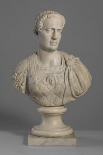 Sculpture  - Marble Bust  Auguste Imperator XVII century