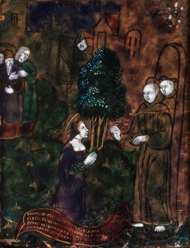 Saint Clare, enamel circa 1540