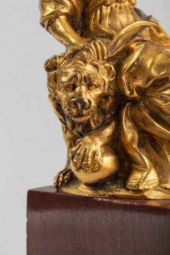 Minerve on a lion, venice 17th century - Sculpture Style Louis XIII