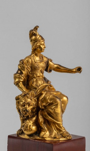 Minerve on a lion, venice 17th century - Louis XIII