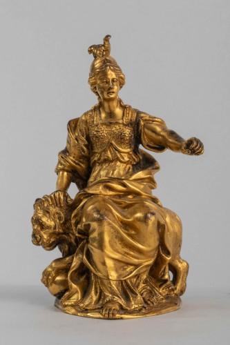 Louis XIII - Minerve on a lion, venice 17th century