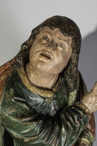 Saint john gothic Flanders circa 1500 - Sculpture Style Middle age