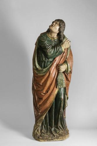 Sculpture  - Saint john gothic Flanders circa 1500