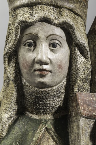 Saint Edwig, late 15th century - Sculpture Style Middle age