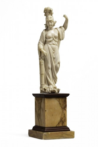 figur of minerva in ivory