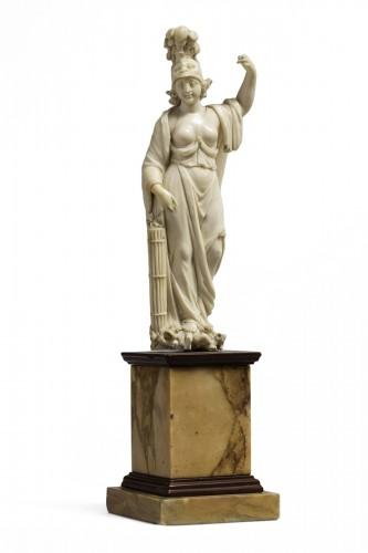 figur of minerva in ivory