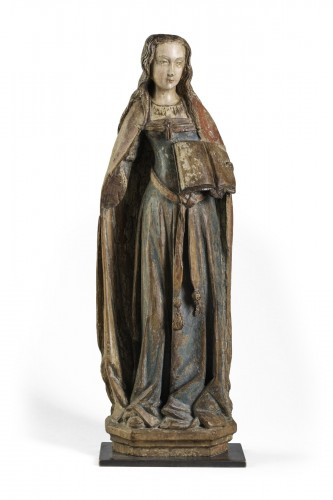 figur of a Holy women from the gothic period - France late 15th century