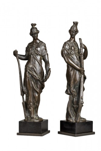 Pair of Renaissance bronzes